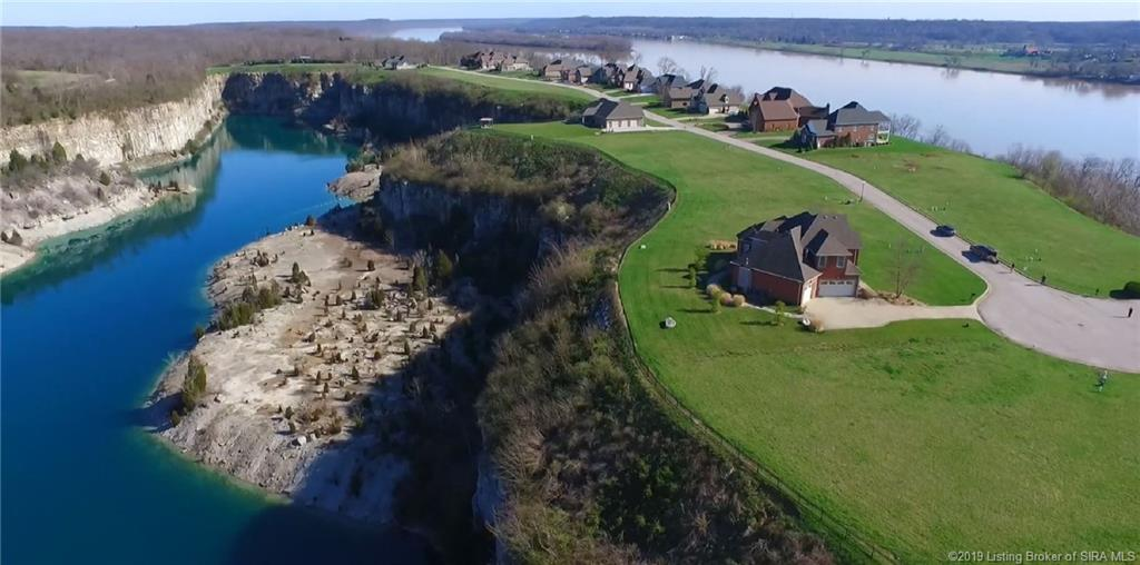 Beautiful Arial Photo of Quarry Bluff and Ohio River