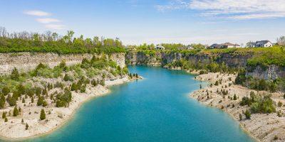 Quarry Bluff Lake - Beautiful Blue
